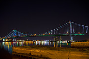 Franklin Metal Prints - The Benjamin Franklin Bridge from Camden Metal Print by Bill Cannon