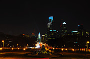 Benjamin Franklin Parkway Prints - The Benjamin Franklin Parkway at Night Print by Bill Cannon