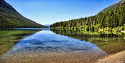 Fed Metal Prints - The Best Beach In Glacier National Park Panorama 2 Metal Print by Scotts Scapes