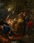 Jesus Painting Prints - The Betrayal of Christ Print by Anthony Van Dyck