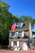 Flag Prints - The Betsy Ross House Print by Olivier Le Queinec
