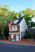 Colonial Flag Posters - The Betsy Ross House Philadelphia Poster by Bill Cannon