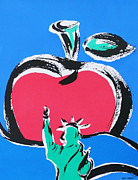 Liberty Drawings - The Big Apple by Katharine Green