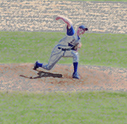 The Big Baseball Pitch Digital Art Print by Thomas Woolworth