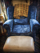 Pattern Book Photos - The Big Blue Chair - Oil by Edward Fielding