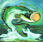 Arkansas Paintings - The Big Fish by Marla Hoover