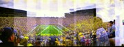 University Of Michigan Metal Prints - The Big House Metal Print by Sara Snyder