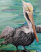 Ferguson Originals - The Big Pelican Winking by Robert R Ferguson