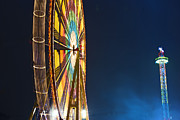 Park Scene Digital Art Prints - The big wheel Print by Nathan Wright