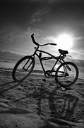 Silhouette Art - The Bike by Peter Tellone