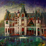 Asheville Painting Posters - The Biltmore Estate Poster by Gray  Artus