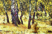 The Birch Forest Print by Odon Czintos