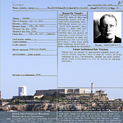 Mug Shot Prints - The Birdman of Alcatraz San Francisco 20130323v2 Square Print by Wingsdomain Art and Photography