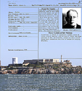 Mug Shot Prints - The Birdman of Alcatraz San Francisco 20130323v2 Print by Wingsdomain Art and Photography