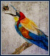 Pencil On Canvas Digital Art Framed Prints - The Birds and The Bees Framed Print by Melissa Nankervis