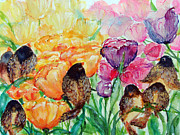 Spring Time Painting Originals - The Birds of Spring Shower Blessings on You by Ashleigh Dyan Bayer