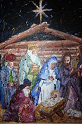 Baby In A Manger Prints - The Birth  Print by Ahmad Austin