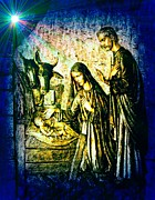 Nativity Digital Art - The Birth of Christ by Marie Sharp