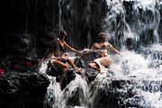 Mauritius Photos - The Birth of the Double Star. Anna at Eureka Waterfalls. Mauritius. TNM by Jenny Rainbow