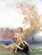 Dolphin Digital Art - The Birth of Venus  by William Bouguereau