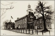 Independence Hall Digital Art Metal Prints - The Birthplace of Freedom Metal Print by Bill Cannon