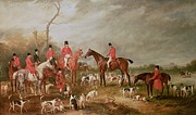 Young Horses Prints - The Birton Hunt Print by John E Ferneley