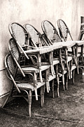 Wicker Chairs Framed Prints - The Bistro Has Closed Framed Print by Olivier Le Queinec