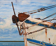Shrimp Boat Paintings - the B.J. Henry by Rick McKinney