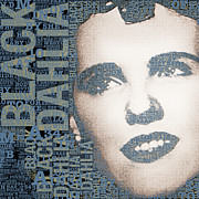 Film Star Mixed Media Prints - The Black Dahlia Elizabeth Short Print by Tony Rubino