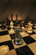 Chess Pieces Prints - The Black Knight Print by Don Hammond