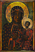 Virgin Digital Art Posters - The Black Madonna Poster by Andrzej  Szczerski