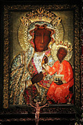 Crucify Metal Prints - The Black Madonna Metal Print by Mariola Bitner