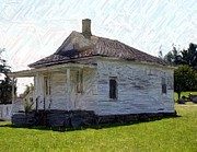 Sesquicentennial Digital Art Prints - The Black Schoolhouse - Perryville KY Print by Thia Stover