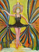 Ballet Dancers Paintings - The Black Tutu by Tom Conway