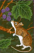 Lori Ziemba Prints - The Blackberry Mouse Print by Lori Ziemba