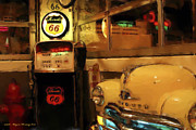 Gas Stations Prints - The Blackfoot Diner Print by Wayne Bonney