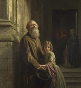 Blind Faith Prints - The Blind Beggar Print by Josephus Laurentius Dyckmans