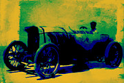 Import Cars Digital Art Prints - The Blitzen Benz Racer - 20130208 Print by Wingsdomain Art and Photography