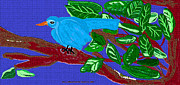The Blue Bird Print by Sherry  Hatcher