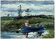 The Blue Boat - The Blue Boat by Winslow Homer