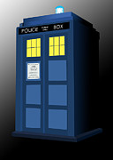 Tardis Framed Prints - The Blue Box Framed Print by Jennifer Urciuolo