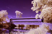 Ir Posters - The Blue Bridge Poster by Paul W Faust -  Impressions of Light
