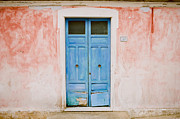 Italian Landscape Photo Posters - The Blue Door Poster by Ariane Moshayedi