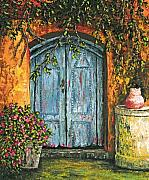 Palette Knife Paintings - The Blue Door by Darice Machel McGuire