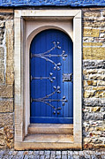 Cobblestones Posters - The Blue Door Poster by Marcia Colelli