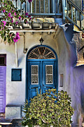 Prendergast Prints - The Blue Door-Santorini Print by Tom Prendergast