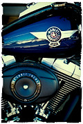 Classic Cycle Prints - The Blue Hog II Print by David Patterson