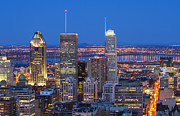 Downtown Montreal Art - The blue hour by Mircea Costina Photography