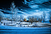 Back Road Digital Art Prints - The Blue Hour Print by Steve Harrington