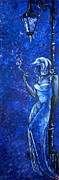 Mardi Gras Paintings - The Blue Lady by Jessica Myler